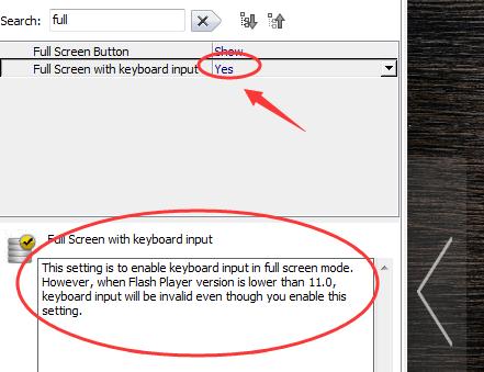 full screen with keyboard input