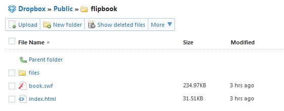 flip upload with dropbox publish