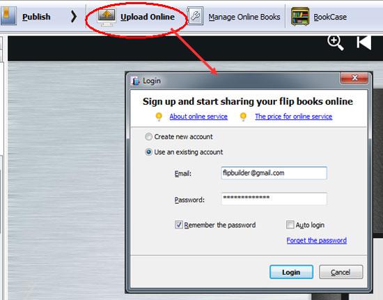 login flipbuilder online service