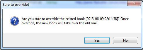 override an existing flipbook