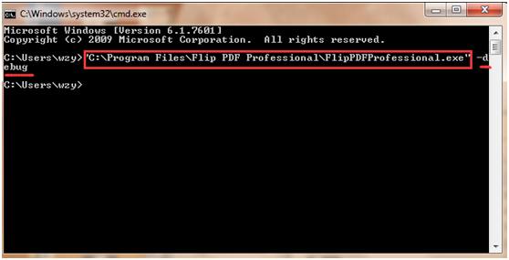 run Flip PDF Professional debug function