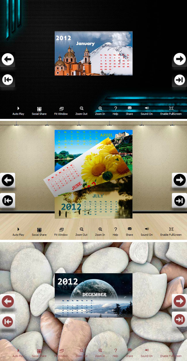 Carefully Designed Templates In Calendar Design Theme Package Will Help To Build Publications With Ease Flipbuilder Com